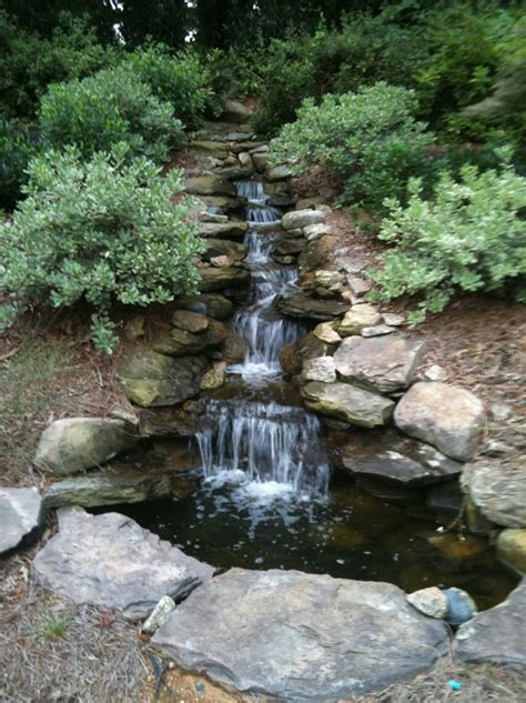 backyard streams scenic sunday my client built a waterfall in her backyard