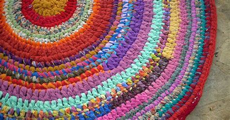 how to crochet a rug with fabric crocheted rugs from recycled fabrics crochet rag rugs rugs and fabrics