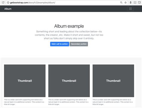 getbootstrap templates image collections template