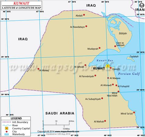 Kuwait Address Finder Kuwait Latitude And Longitude Map