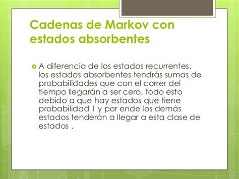 cadenas de markov de tiempo continuo ejercicios resueltos cadenas de markov con estados absorbentes