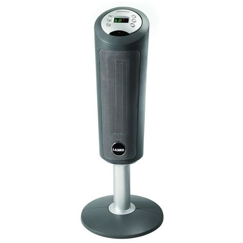 Pedestal Heaters lasko 30 in digital ceramic pedestal heater with remote 5365 the home depot
