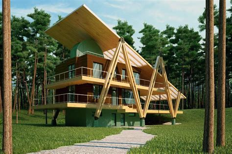 Energy Efficient House Designs by Energy Efficient Grasshopper Shaped House Modern House