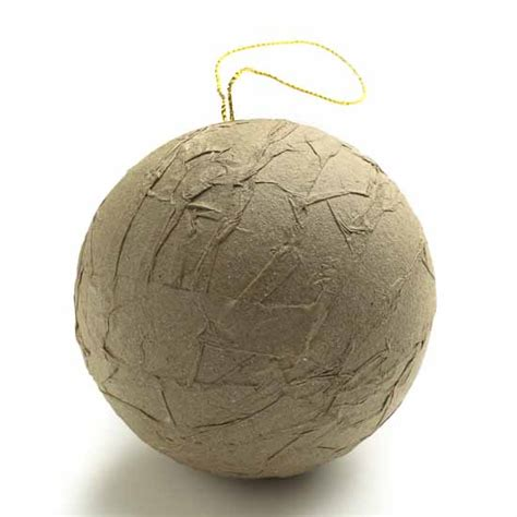 How To Make Paper Mache Ornaments - paper mache crafts ornaments