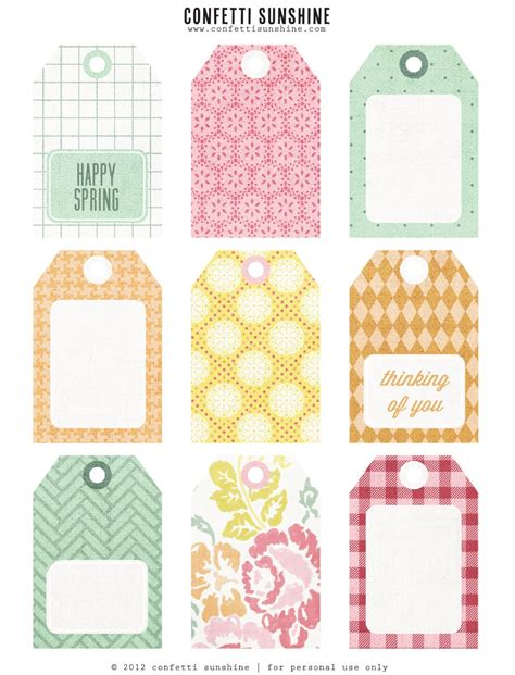 printable craft tags free spring printable tags craft diy pinterest