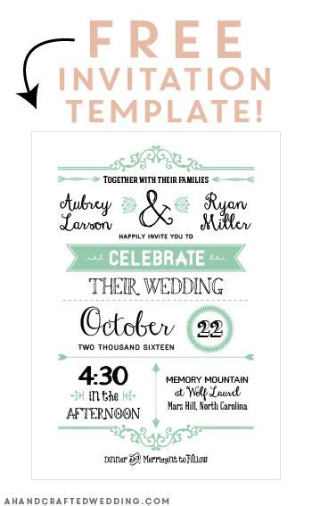 free invites templates free printable wedding invitation template free