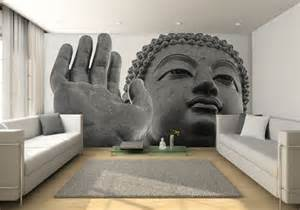 contemporary wall mural buddha mural wall contemporary living room
