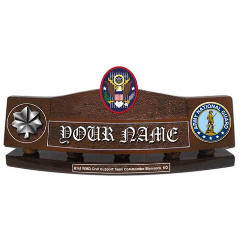 military desk name plates office hand carved desk name plate us army national guard civil
