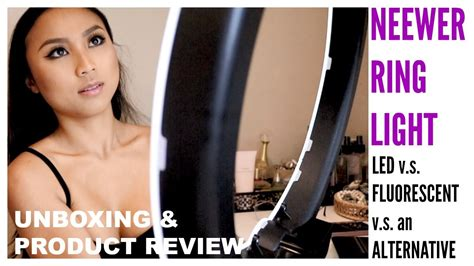 neewer ring light review unbox review neewer ring light led vs fluorescent vs