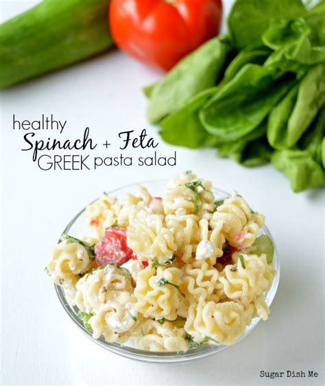 creamy pasta salad recipe the links site healthy spinach and feta pasta salad with a creamy greek