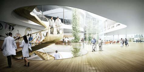 Hospital Design Proposal | c f mollers proposal for the danish forest hospital 05