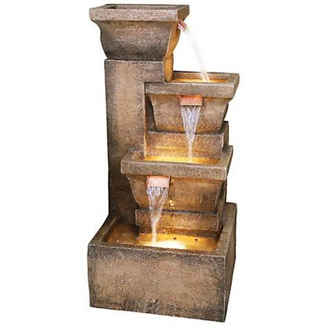 Ls Plus Water Fountains by Ashboro Lighted Indoor Outdoor 33 Quot High Water