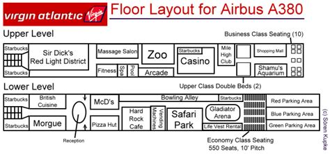 a380 floor plan floorplan of virgin s new a380 super jumbo