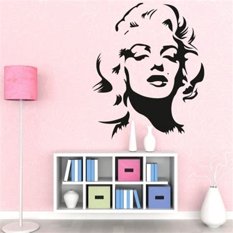 wall stickers marilyn marilyn wall sticker wall chimp