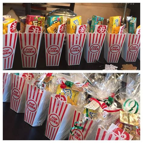 christmas gift for my employees movie ticket popcorn