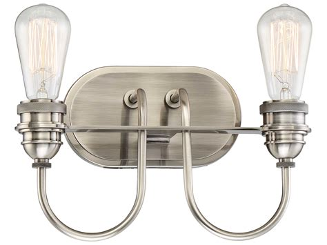 Edison Vanity Light Minka Lavery Uptown Edison Plated Pewter Two Light Vanity Light Mgo345284b