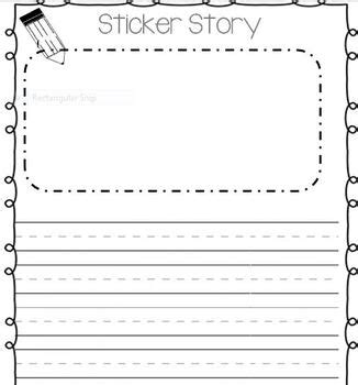 How To Make A Phlet On Paper - sticker story writing paper by turned librarian tpt