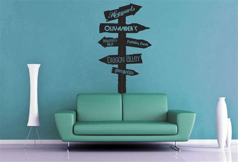 harry potter wall stickers harry potter road sign wall decal by geekerymade on deviantart