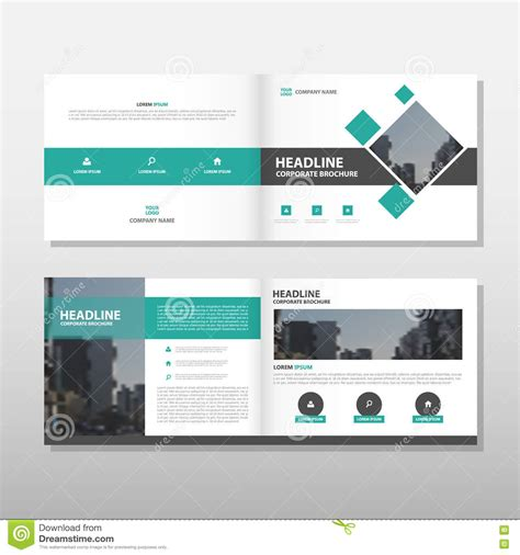 layout design for business green annual report business brochure flyer design