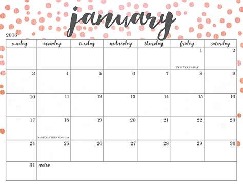 easy printable monthly calendar 2016 free printable 2016 calendars oh so lovely blog