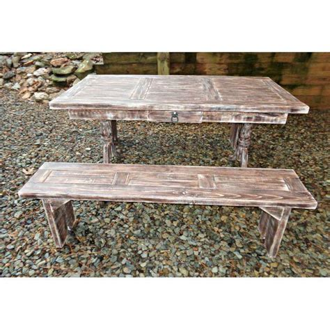 rustic pine dining bench rustic pine dining table benches chairish