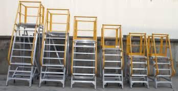platform ladder aluminium mobile work platforms