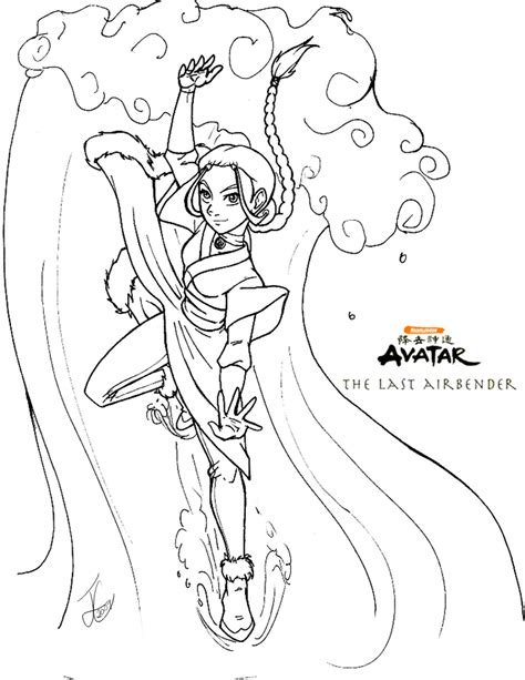 Atla Katara Coloring Page By Delusionalhell Avatar The Last Airbender Coloring Pages