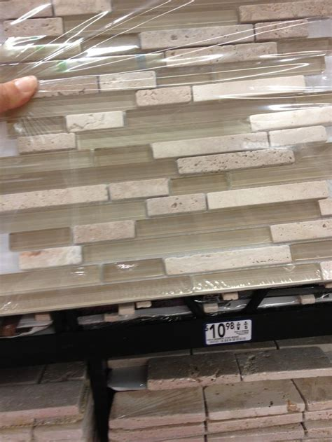 kitchen backsplash tile at lowes neutral our house