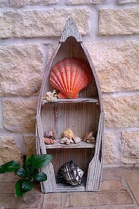 Boat Home Decor by Upcycled Nautical Home Decor Wooden Weathered Boat