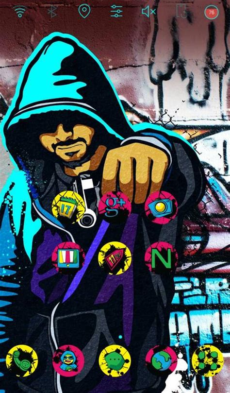 cool graffiti  launcher theme  apk  android