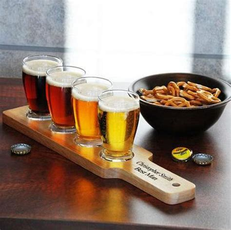 boat drink holder tray wooden beer tasting tray holder wooden tray cup holder