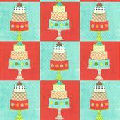 patisserie fabric wallpaper gift wrap spoonflower
