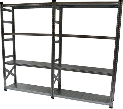 home shelving metalsistem heavy duty basic shelving kit with add on