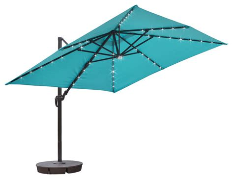 executive square cantilever umbrella 10 x10 blue