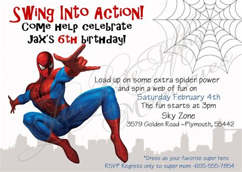 spiderman birthday invitations ideas bagvania free