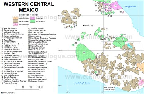 map of western mexico western central mexico ethnologue