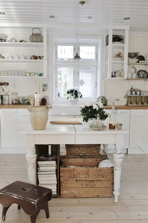 country style kitchen islands pretty shabby kitchencountry cottages open shelves