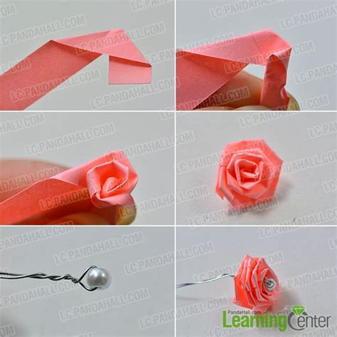 make the quilling paper flower quiling