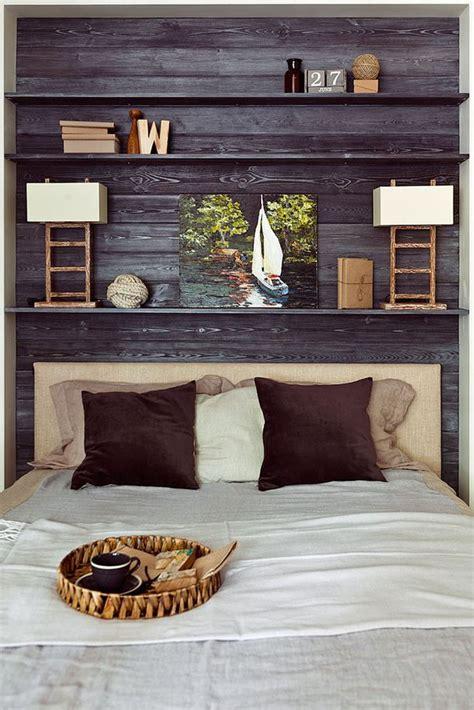 25 best ideas about headboard shelves on bed