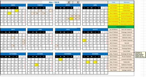 Calendario Almanaque 2016 Calendario 2016