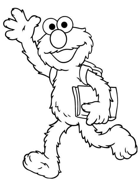 e for elmo coloring page elmo goes to school coloring page free printable