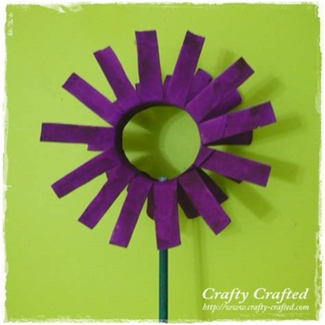Toilet Paper Roll Flowers Craft - crafty crafted 187 archive crafts for children