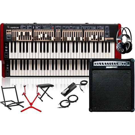 Pedal Keyboard Sustain Match Mp6 nord c2d combo organ with keyboard lifier matching stand headphones bench and sustain