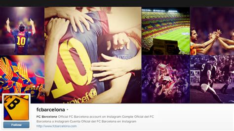 barcelona instagram fc barcelona has launched its official profile on