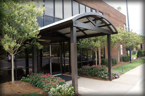 architectural awning dac architectural fabric metal entrance drop off canopies