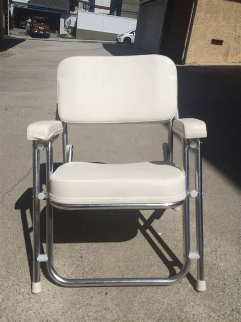 seafit boat chairs two west marine aluminum cushion deck chairs bloodydecks