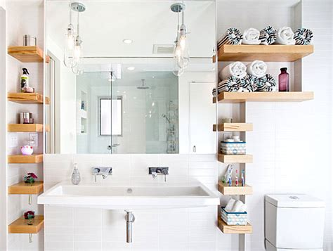 Open Shelving In Bathroom Cool Bathroom Storage Ideas
