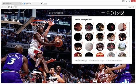 chrome themes nba michael jordan wallpaper hd new tab nba theme chrome web