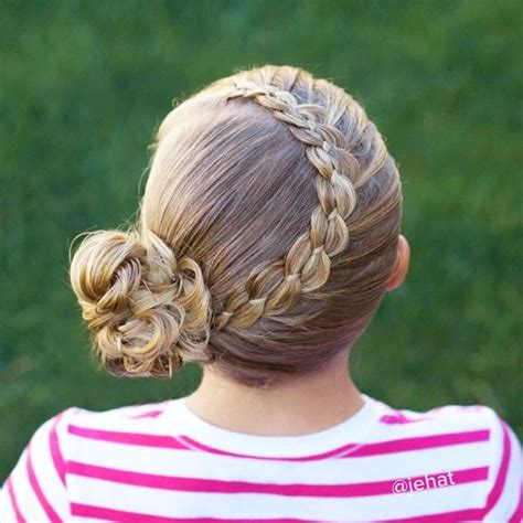 wet and messy hair look 4 strand lace braid to messy bun twinshair