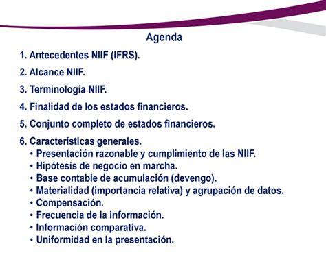 conceptos y principios generales de las niif nic 1 presentaci 243 n de estados financieros monografias com